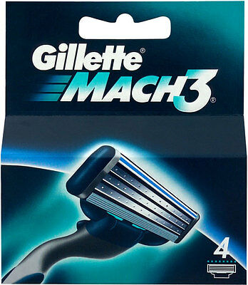 Gillette Mach3 Replacement Razor Blades 8 pack /4 pack