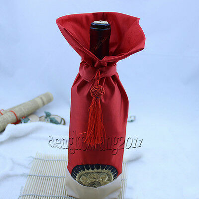New WHOLESALE MIX CHINA SILK FLOWER WINE BOTTLE COVER PARTY DECOR  -1