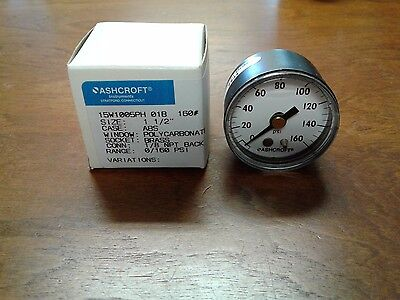 "*new In Box* Ashcroft 15W1005Ph 01B 0-160Psi Pressure Gauge 1 1/2"" Brass"