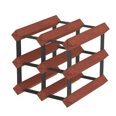 6 Bottle Timber Wine Rack - Dark Mahogany - The Entry Level Wine Storage System