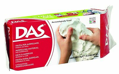 DAS Modelling Clay Crafts Sculpting Modeling Compound - 1kg White NEW