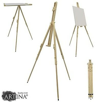 Field Easel Malaga Pine Wood Portable Art Painting Easel for Artists 80x96x180cm