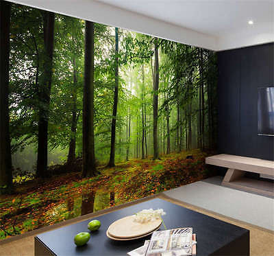 Forest Woods Plant Natu Full Wall Mural Photo Wallpaper Print Kids Home 3D Decal