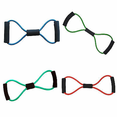 Exercise Yoga Training Bands 8 Type Body Building Fitnes Resistance Tube Workout