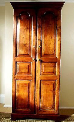 18Th Century Walnut Continental Cupboard With Drawers