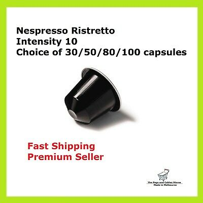 30 50 80 100 Capsules Nespresso Coffee Ristretto Pods Most Popular Flavour