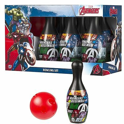 Marvel Avengers Bowling Set Family Children Fun Home Activity Game 6 Pins & Ball