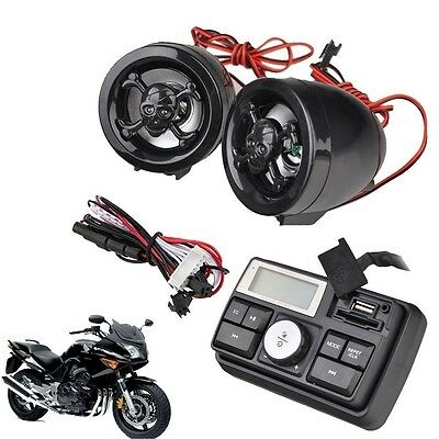 Motorcycle MP3 SD USB FM Radio Stereo Amplifier Sound System Scooter ATV Alarm