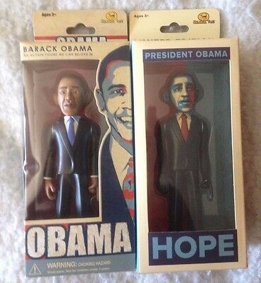 New Shepard Fairey President Barack Obama Action Figure Toy Doll Lot 2 Rare Oop