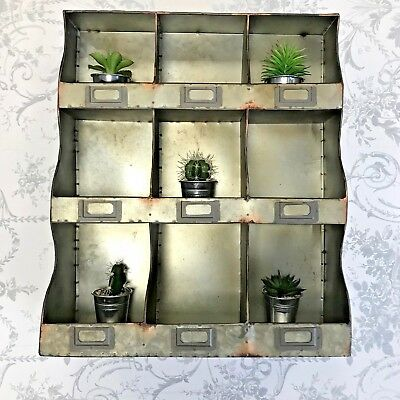 Shabby Chic Wall Unit Shelf Storage Cupboard Cabinet Pigeon Hole Vintage Wooden