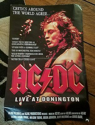 "●Ac*dc●Rare Dvd Add Poster●Live At Donington●18"" By 24""●See Pictures●Original●"