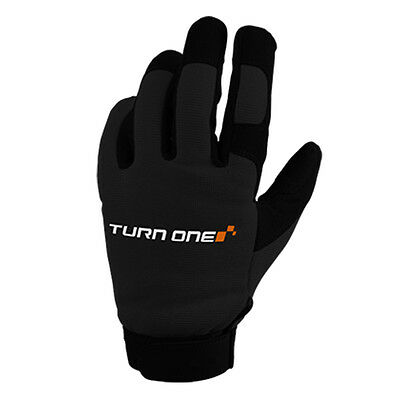 Turn One Motorsport Mechanics Pit / Paddock Gloves Karting Race Rally BLACK