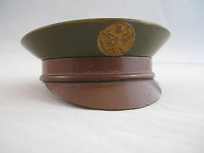 Rare Vintage WWII Military US Army Hat Sweetheart Powder Compact WW2 Collectible