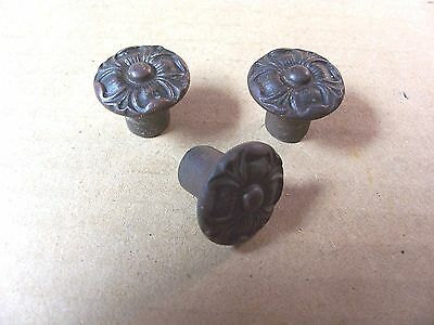 (3) Antique / Vintage French Provincial Drawer Pulls / Knobs -- Screws Included