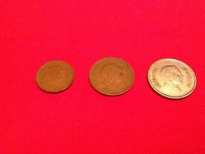 5, 10, and 50 fils from Jordan