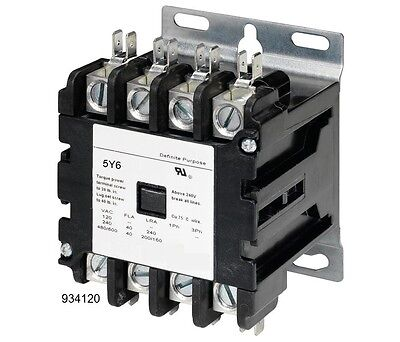 4 Pole Contactor 40 Amp 120V Coil Motor Lighting HVAC Replacement 20A 30A 40A UL