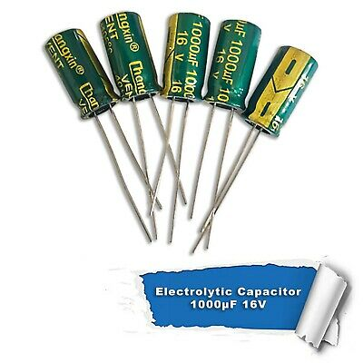 1000uF 16V 105°C Electrolytic radial capacitor