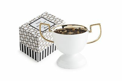 Rosanna 94940 Luxe Moderne Trophy Bowl Medium White/Gold New