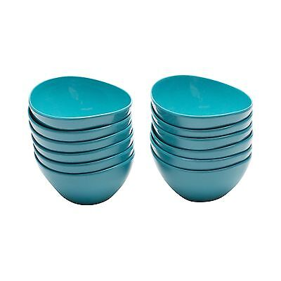 Zak Designs Moso Individual Bowl 4.5-Inch Azure Set of 12 New