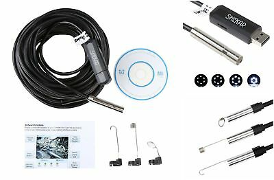 Pipe Inspection Camera HD 720P USB Endoscope Video Sewer Drain Waterproof 50FT!!