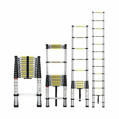 Stanz (TM) Portable 12.5 Feet Aluminum Telescoping Extension Ladder 12 St... New