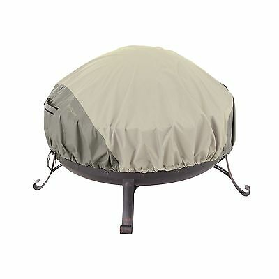 Classic Accessories 55-261-011001-00 Belltown Fire Pit Cover Grey Round New