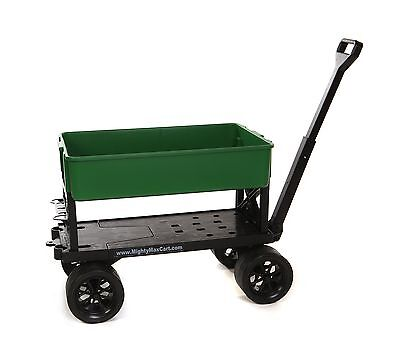 Mighty Max Cart AP600C All-Purpose Utility and Garden Cart with Green Tub... New