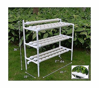 3-layer Hydroponic Site Grow Kit Ebb and Flow Deep Water Culture Garden(I... New
