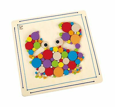 Hape Crabby Wooden Mosaic Wall Art Toddler Arts and Crafts Kit New
