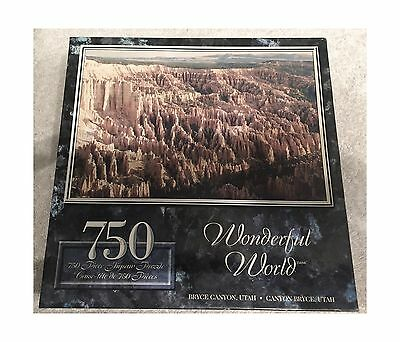 Wonderful World Puzzle:spectacular Interior Bryce Canyon Utah 750 Pieces New