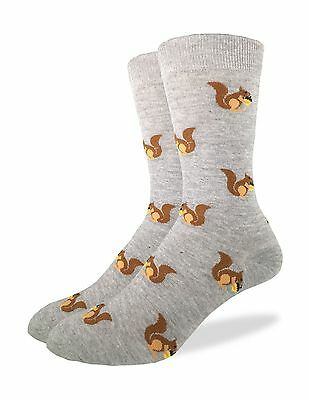 Good Luck Sock Men's Squirrels Crew Socks New