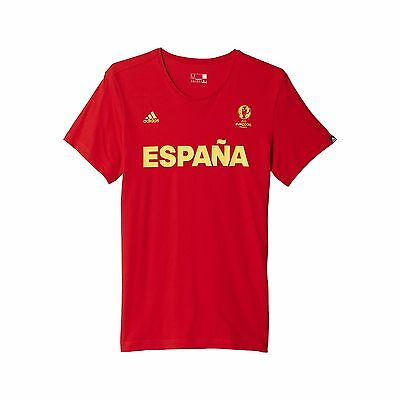 adidas AI5608 Spain Graphic Shirt Euro 2016 (Scarlet - Small) Scarlet New