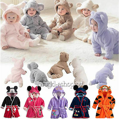 Newborn Baby Boys Girls Bodysuit Outfits Warm Romper Casual Pajamas Clothes Set