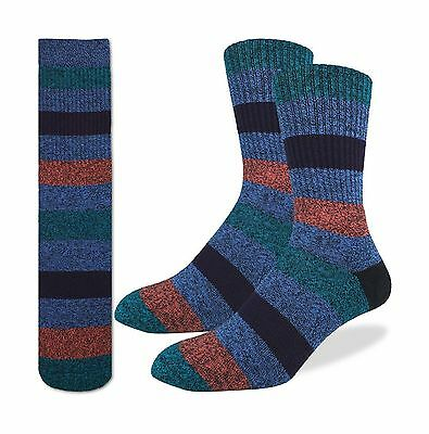 Good Luck Sock Men's Striped Comfort Socks New