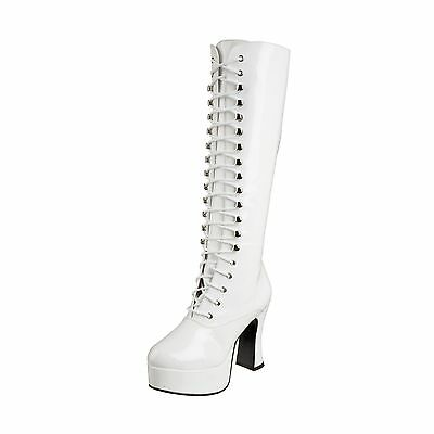 Funtasma by Pleaser Women's Exotica-2020 Boot White Patent 6 M New