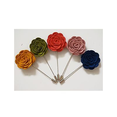 Sunny Home Men's Rose Flower Lapel Stick Handmade Boutonniere Pin for Sui... New