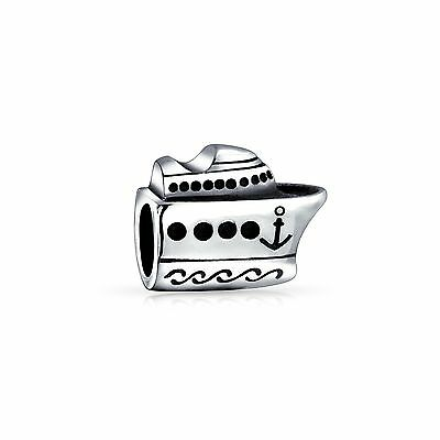 Bling Jewelry 925 Sterling Silver Nautical Cruise Ship Boat Bead Fits Pan... New