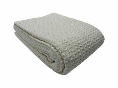 Cozy Bed - Santa Barbara Cotton Blanket Twin Ivory New