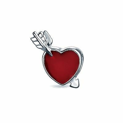 Bling Jewelry 925 Sterling Silver Arrow Red Heart Bead Charm Pandora Comp... New