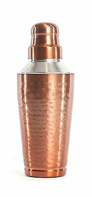 Bel-Air Copper Finish 3PC Cocktail Shaker-24-Ounce New