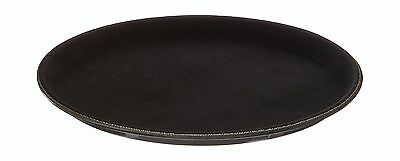 "New Star Foodservice 24937 NSF Plastic Non-Slip Tray Round 11"" Black (Pac... New"