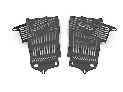 Ro-Moto Radiator guard compatible for BMW R1200GS 2013 2014 2015 2016 GSW LC Water cooled Silver Metallic