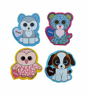 Ty Beanie Boos Jumbo Die Cut Character Erasers 3.25 x 2.75 Inches Each Pa... New