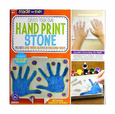 Made by Me Create Your Own Hand Print Stone New
