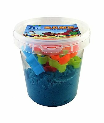 Mr. Sand - High Quality Indoor Playing Sand (Blue With 7 Molds) Blue New