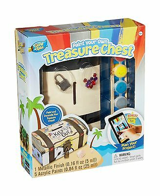 Masterpieces Puzzle Company Works of Ahhh... Treasure Chest Wood Paint Kit New