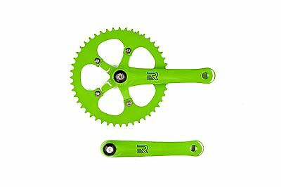Retrospec Bicycles Fixed-Gear Crank Single-Speed Road Bicycle Crankset Gr... New