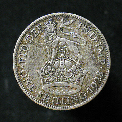 1928 Great Britain Shilling silver coin