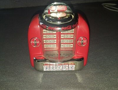 Coca Cola Tabletop jukebox Wall-O-Matic 100 Diecast Musical Bank by Enesco