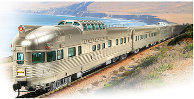 BROADWAY LIMITED 1647 HO 11 CAR Mixed Set A California Zephyr Passenger cars